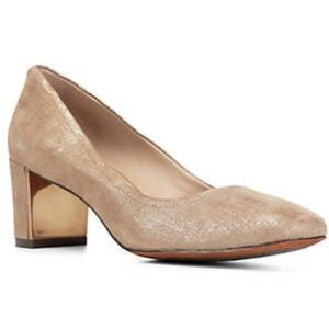 NIB Donald J Pliner Bronze Corin Leather Pumps 7.5